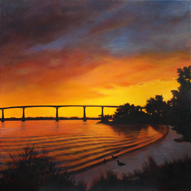 Solomon's Sunset - View of Thomas Johnson Bridge - Route 4